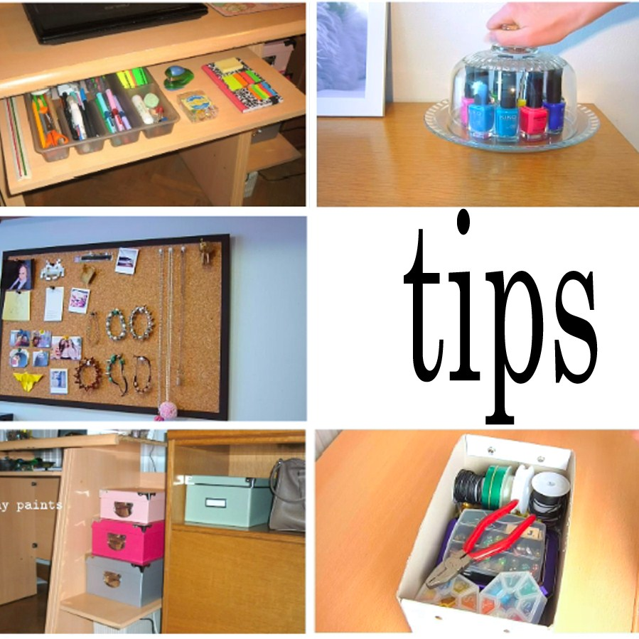 EASY ROOM DECOR - 7 ways to organize your room!!