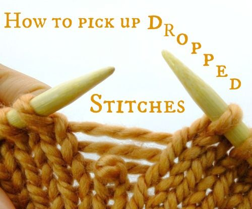 How to pick up dropped stitches in Knitting