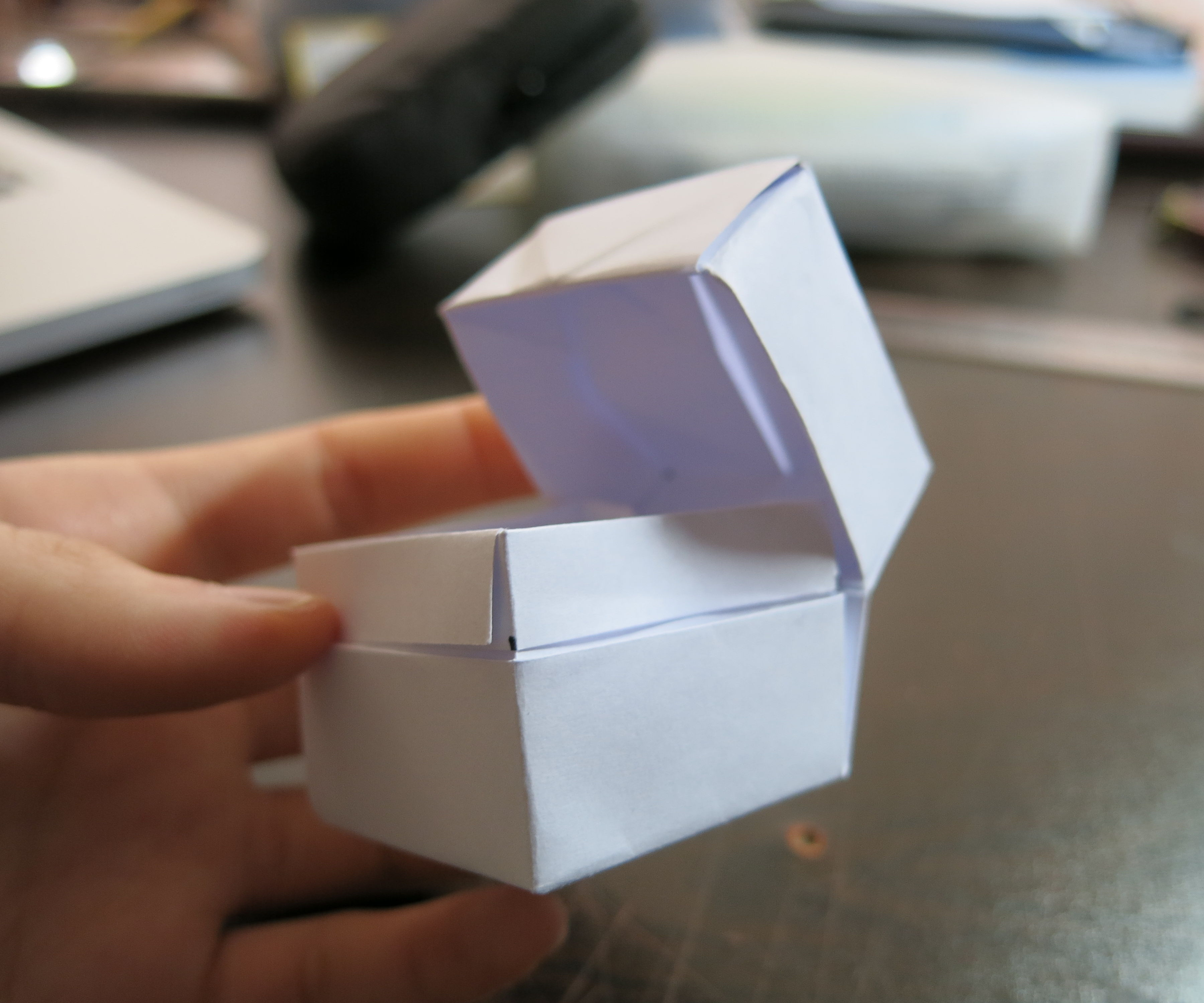 How To Fold a Box With Lid