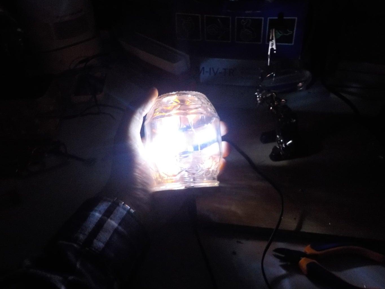 DIY LED Jar Lamp