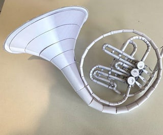 Paper French Horn