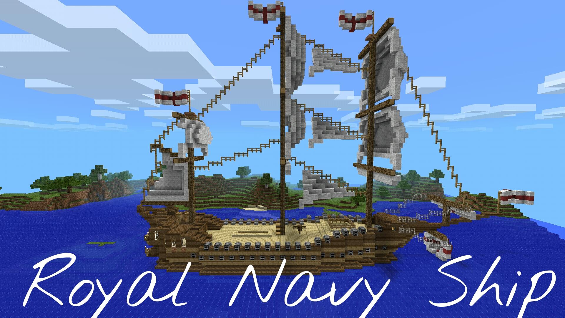 Minecraft PE - Royal Navy Ship