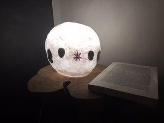 Pressed Flower Paper Lamp