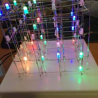 Build Your Own 4x4x4 RGB LED Cube