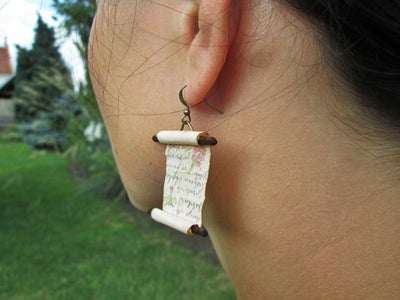 Make Spell Scroll Earrings With Hidden Messages