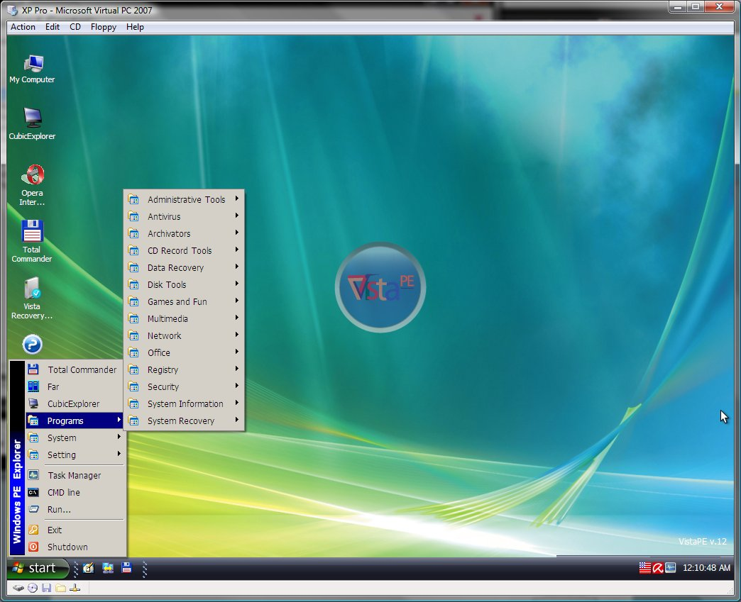Create a Bootable USB drive with VistaPE
