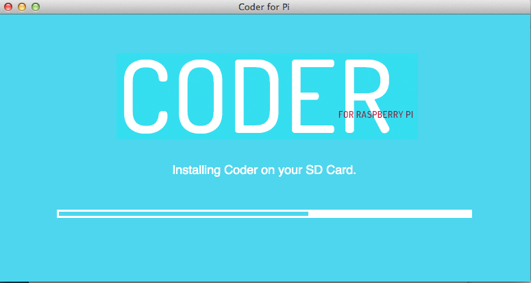 Install Google Coder on Raspberry Pi using Mac OSX