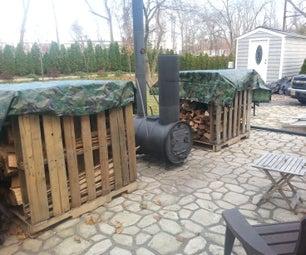 DIY Barrel Stove Outdoor Furnace