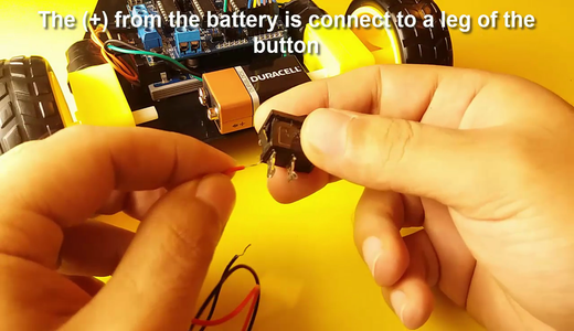Battery and on / Off Button Connection
