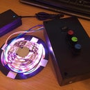 RGB LED Strip With Dimmers on RGB Lines And Colour Organ