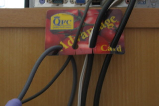 Credit Card Cable Organizer/Holder