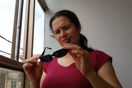 Prank Sunglasses Scratched