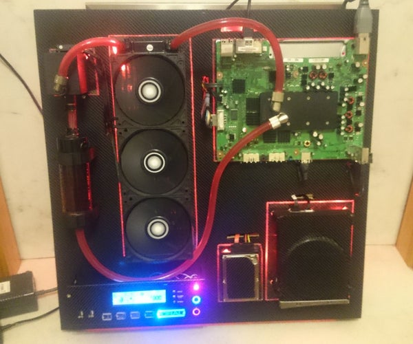Water Cooled and Wall Mounted Xbox 360