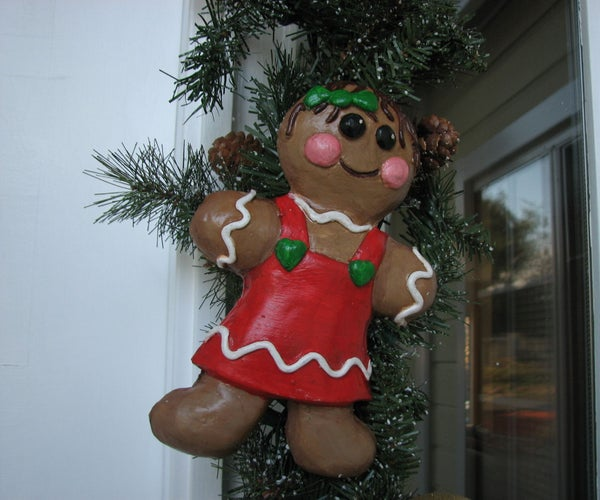 Cast Gingerbread People for Christmas Wreaths