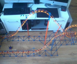 Knex Rubber Band Launched Micro Roller Coaster
