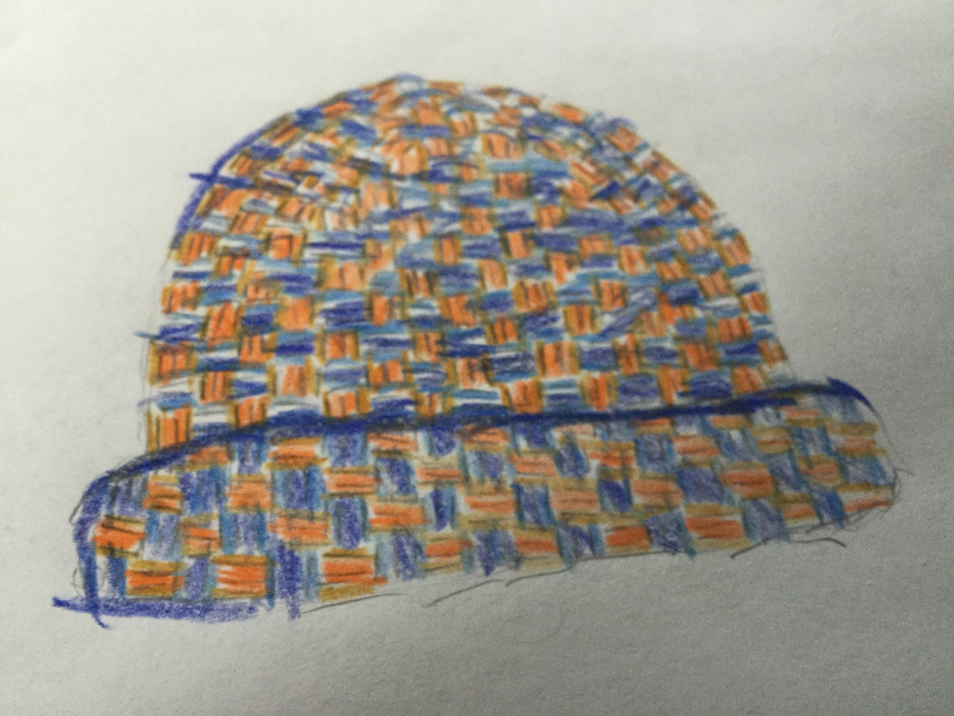 How to Draw a Woven Hat