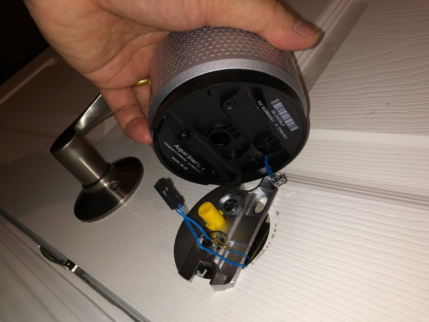 How to Route Power Wire From the Lock to the Door Frame?