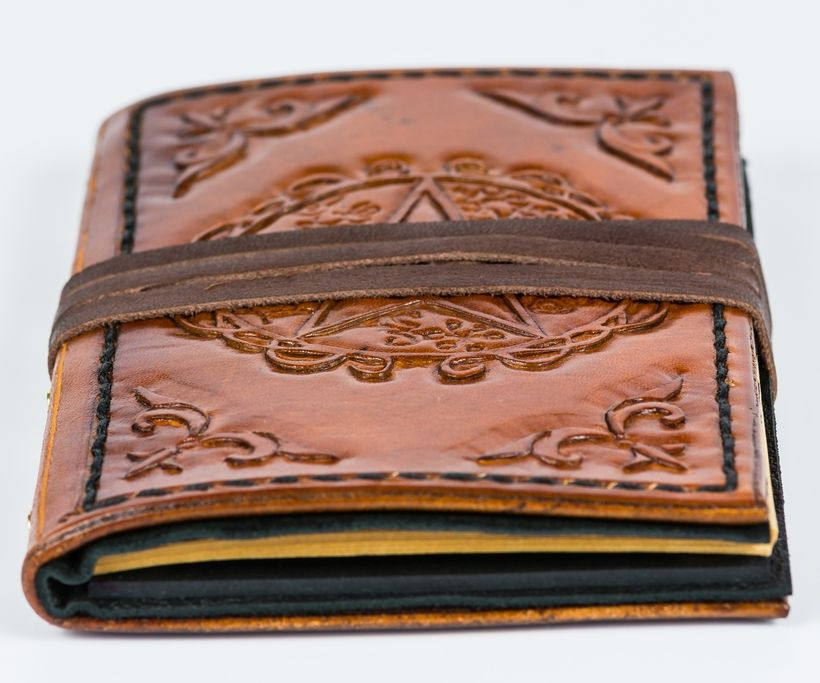 Sorcerer's Little Leather Spellbook (Notebook)