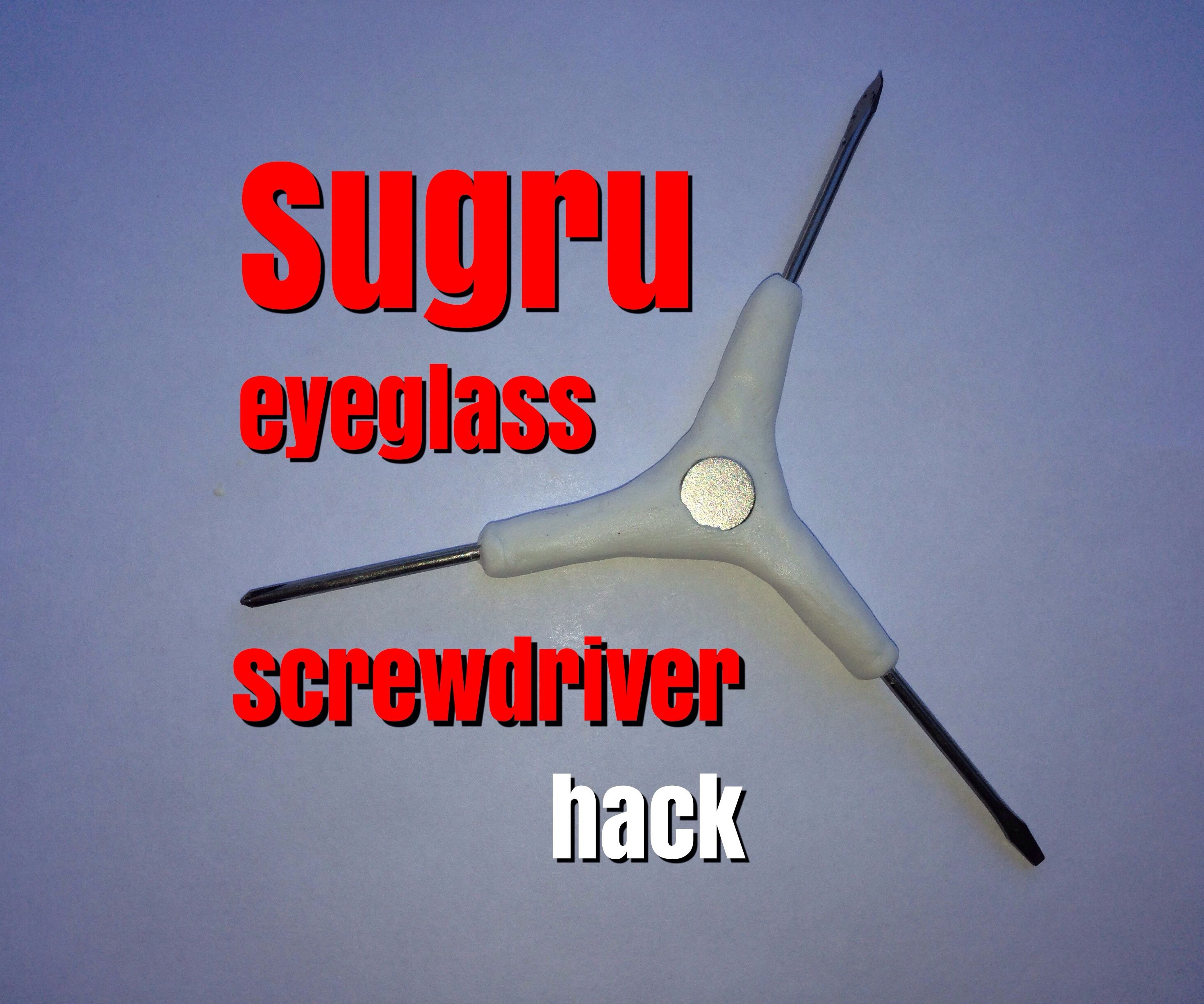Sugru Eyeglass Screwdriver Hack