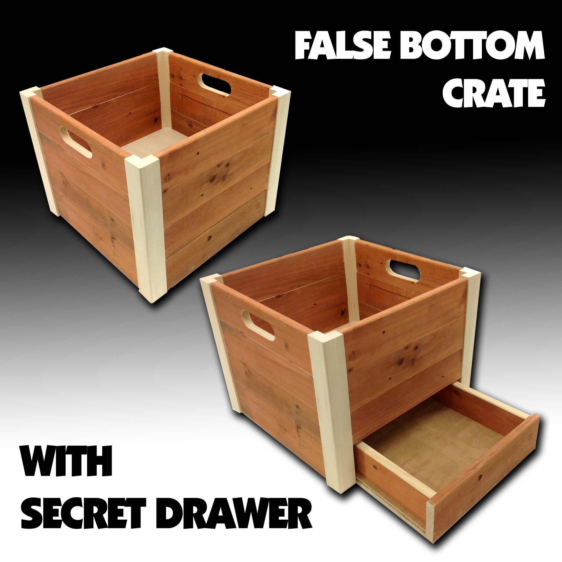 False Bottom Wooden Crate