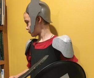 简单的儿童角斗士服装