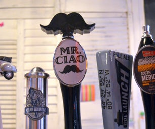3D Printed Mustache Beer Tap Handle