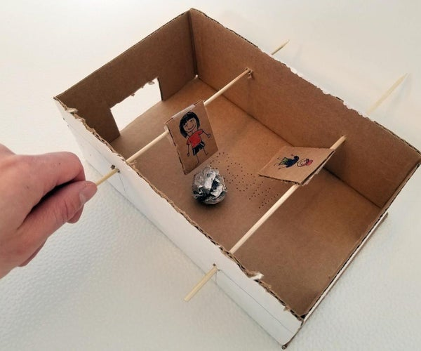 Futbolín Hecho Con Caja De Cartón