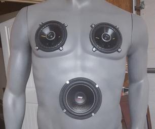 Rechargeable Bluetooth Mannequin Speaker