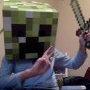 how to be a creeper with a gold sword