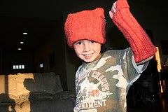 Recycled Sweater Head and Arm Warmers