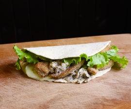 No-Fish Flatbread Sandwich (Vegan)