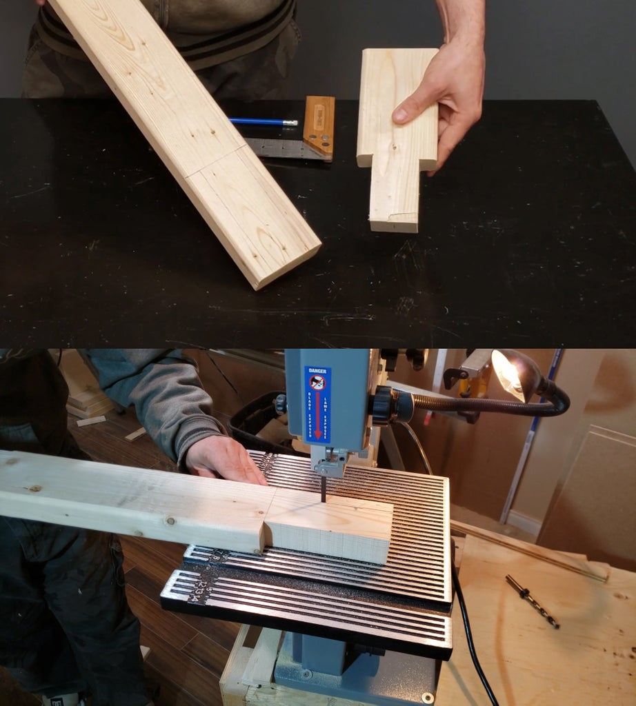 Cutting the 2x4s