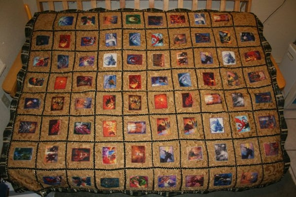 Dragon and Wizard Quilt