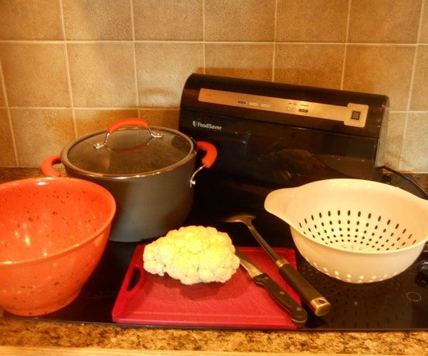 Storing Cauliflower in the Freezer