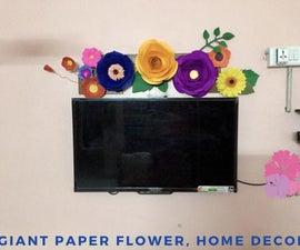 Giant Paper Flower, Home Decor!