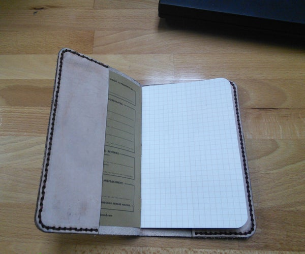 Simple Leather Case for Field Notes