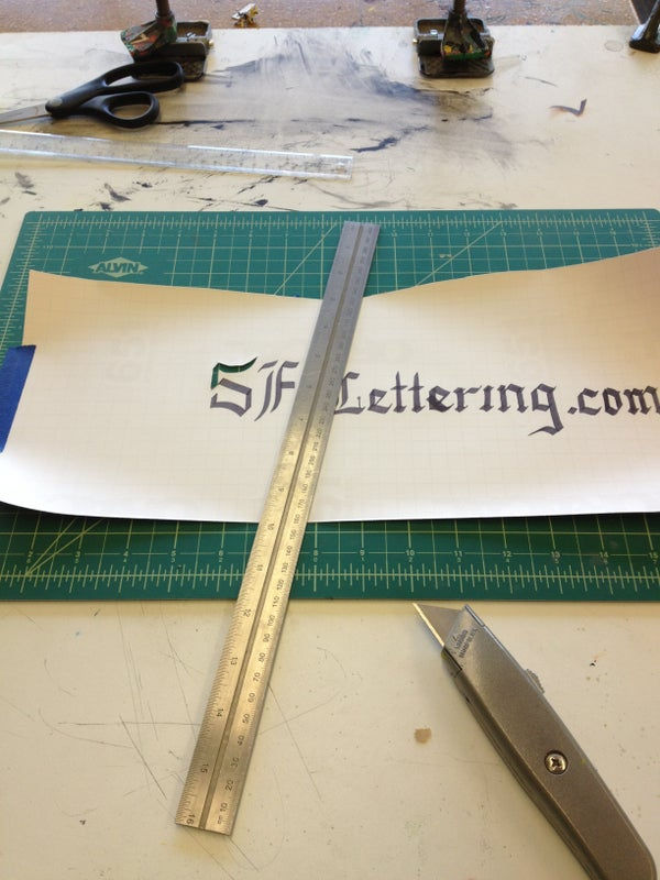 Hand Cut Vinyl Stencil Production and Modification for Silkscreen Printing