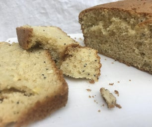 简易蛋糕混合罂粟籽面包
