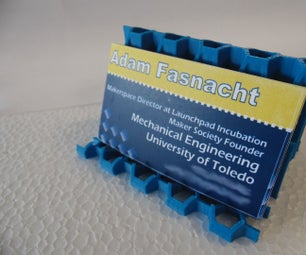 3D Printed Hexgon Honeycomb Business Card and Phone Stand