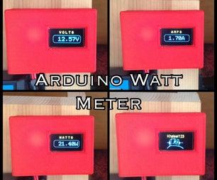 3D Printed Arduino OLED Watt Meter