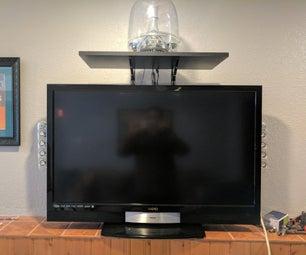 Custom TV Speaker, Streaming Device, Power Strip, Shelf & Cable Hider