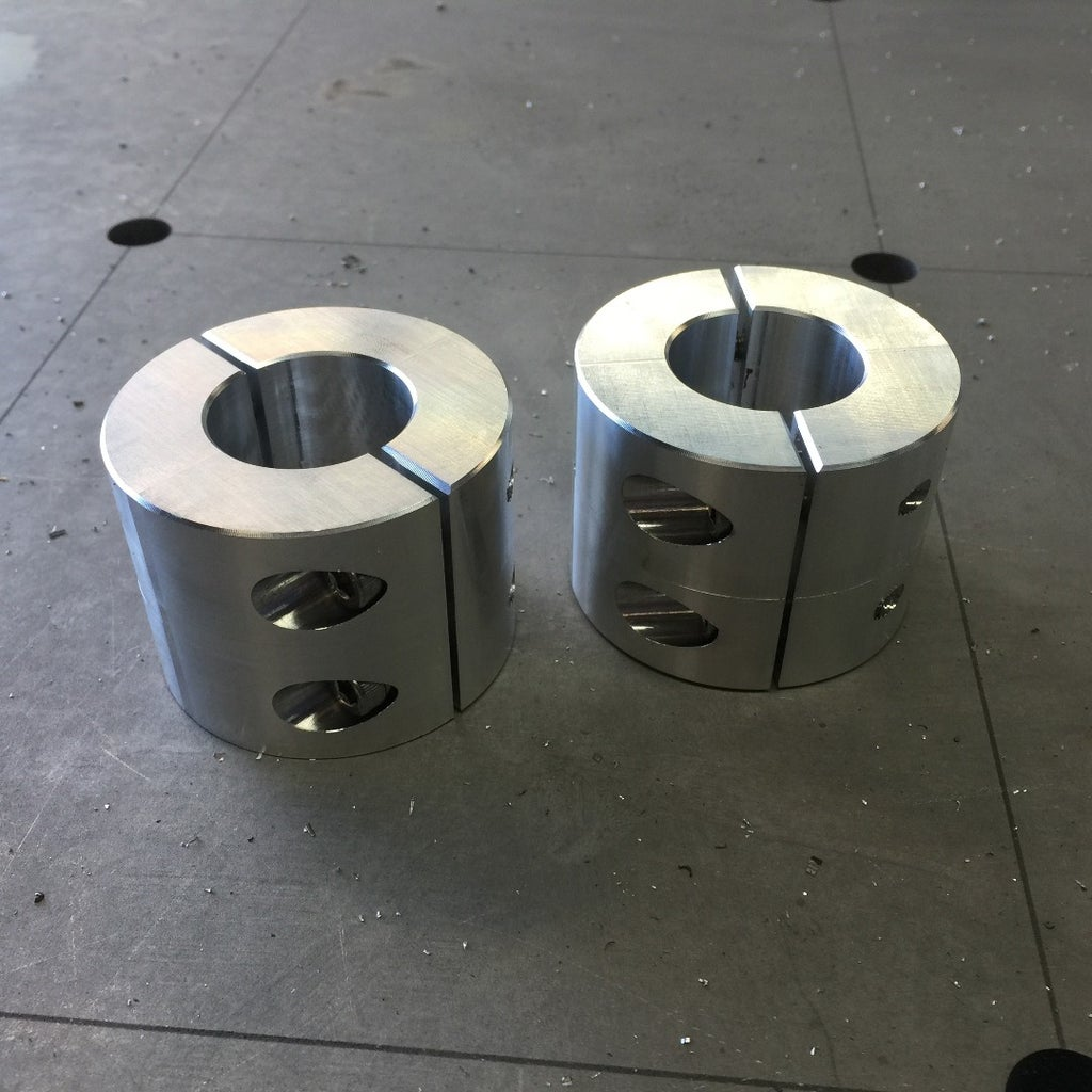 CNC Mill Shaft Collars and Spider Coupling Housing
