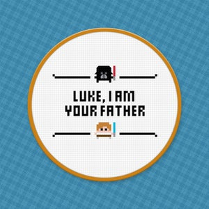 Star Wars - Luke, I Am Your Father - Cross Stitch Pattern - Free Download