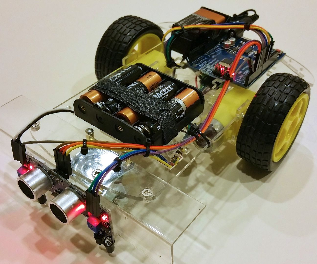 Yet Another Line Following / Obstacle Avoidance 2WD Car