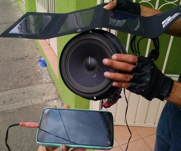 Amplificador De Audio Usando Celda Solar