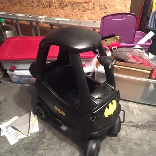 Tiny Tikes Tumbler Batmobile Out of a Cozy Coupe