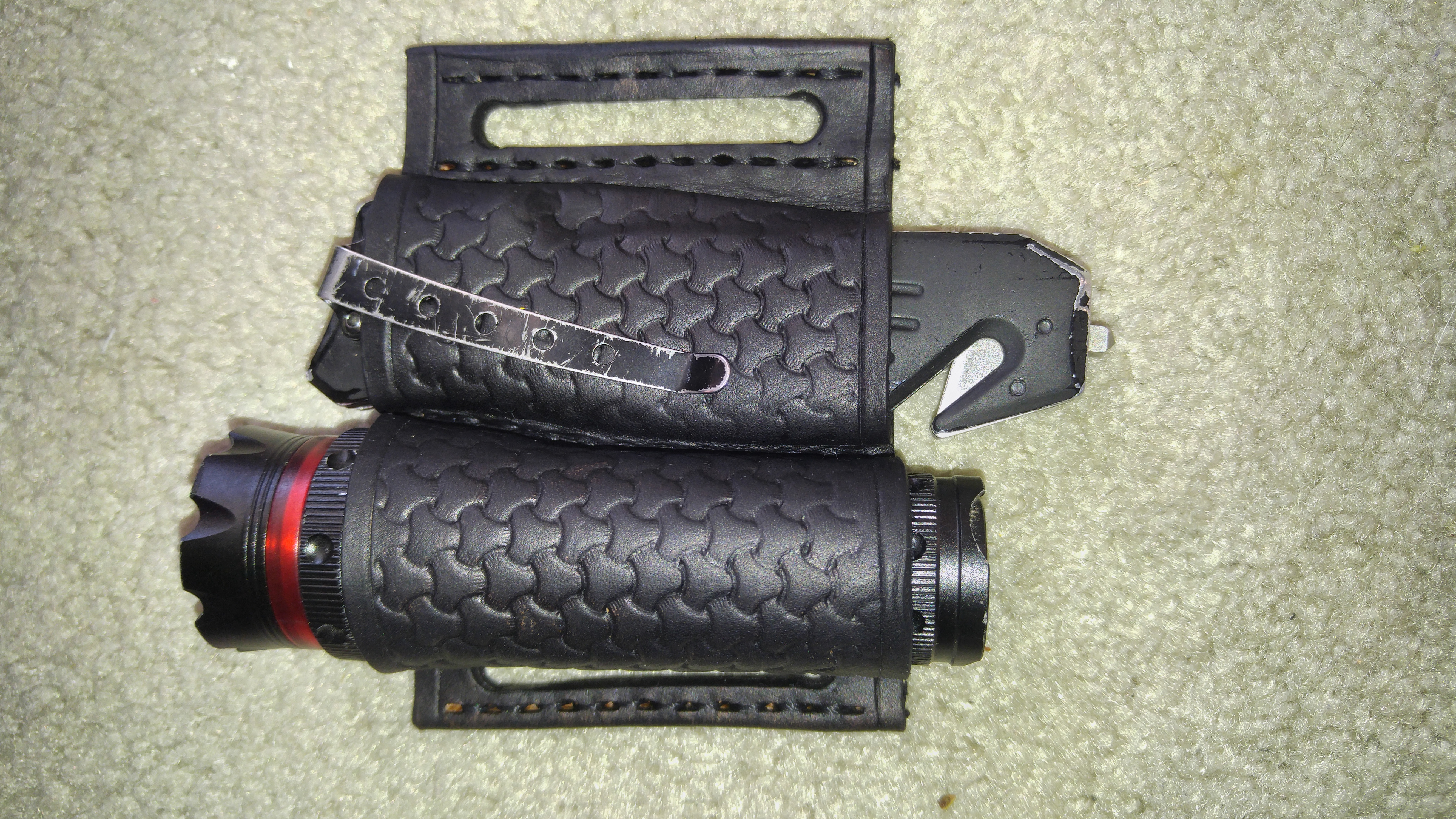 Flashlight and Pocket Knife- Batman Belt Sheath