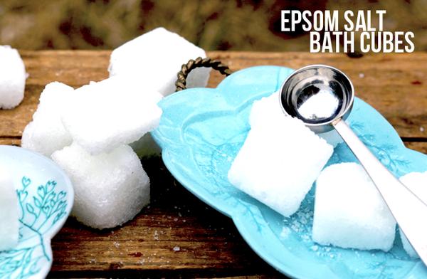 Fizzy Epsom Salt Bath Cubes