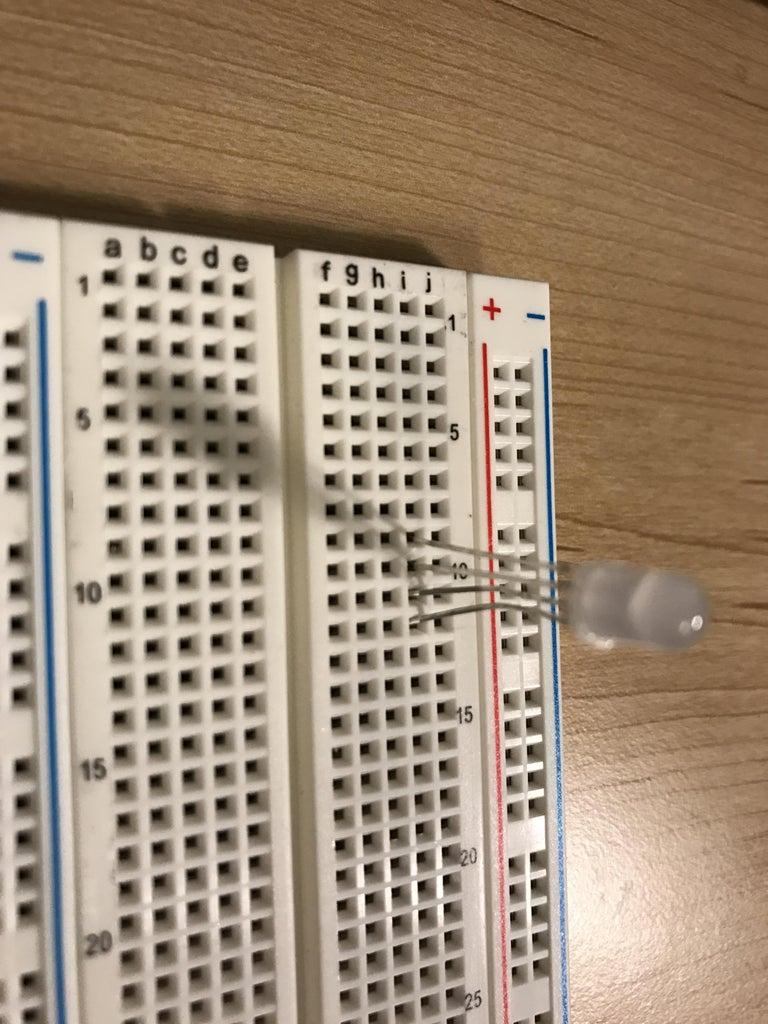 Set Up LED on Breadboard