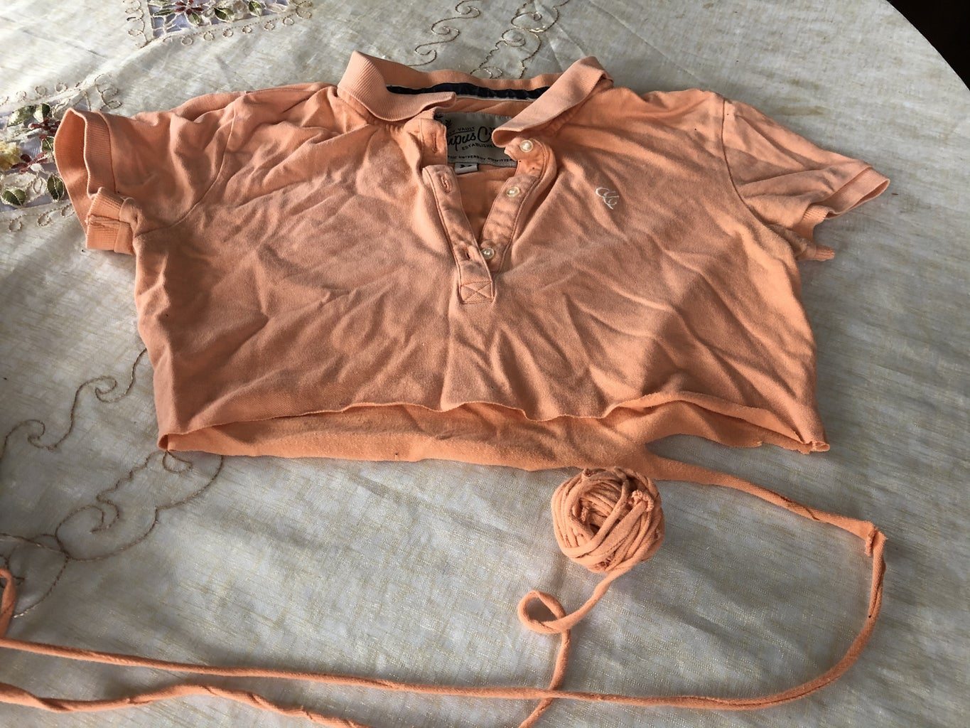 Select the T-shirt, Pant, Sweater or and Fabric to Turn to Yarn